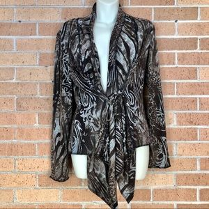 Albert Makali size medium animal print cardigan